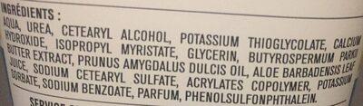 Crème dépilatoire Peaux sensibles - Ingredients - fr