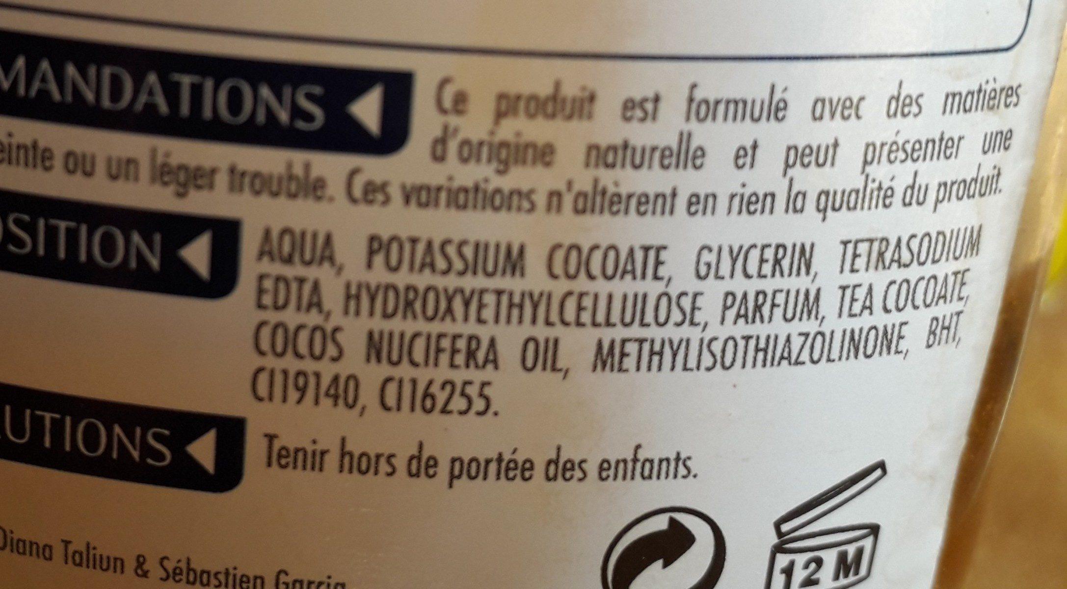 Savon De Marseille Liquide Starwax - Flacon Pompe 300 ML - Ingredients - fr