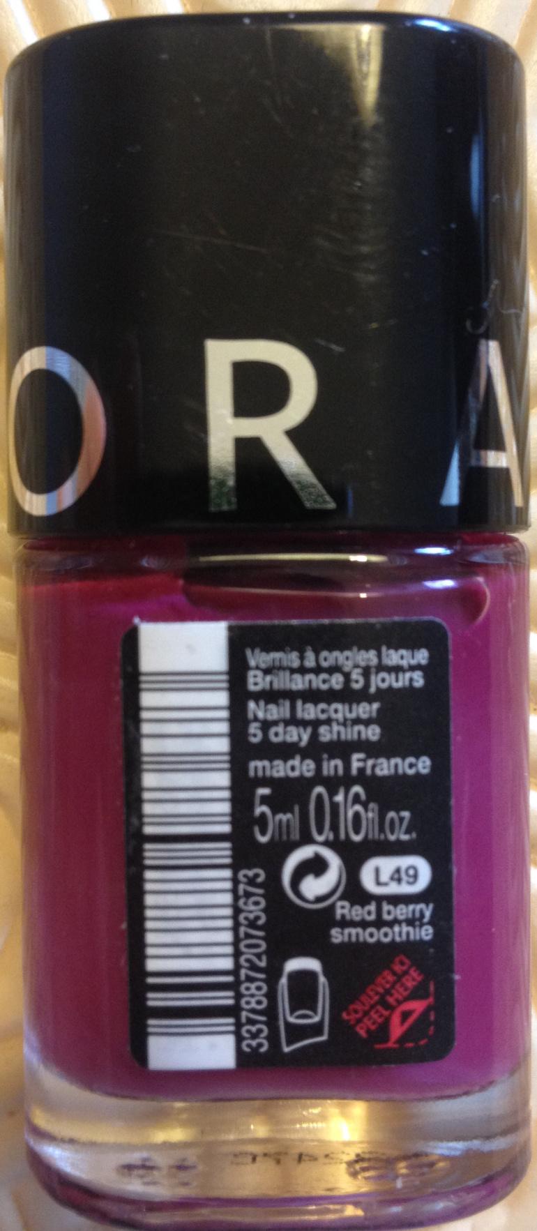 Vernis à ongles Brillance 5 jours L49 - Product