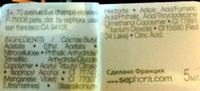 Vernis à ongles laque Brillance 5 jours L52 - Ingredients