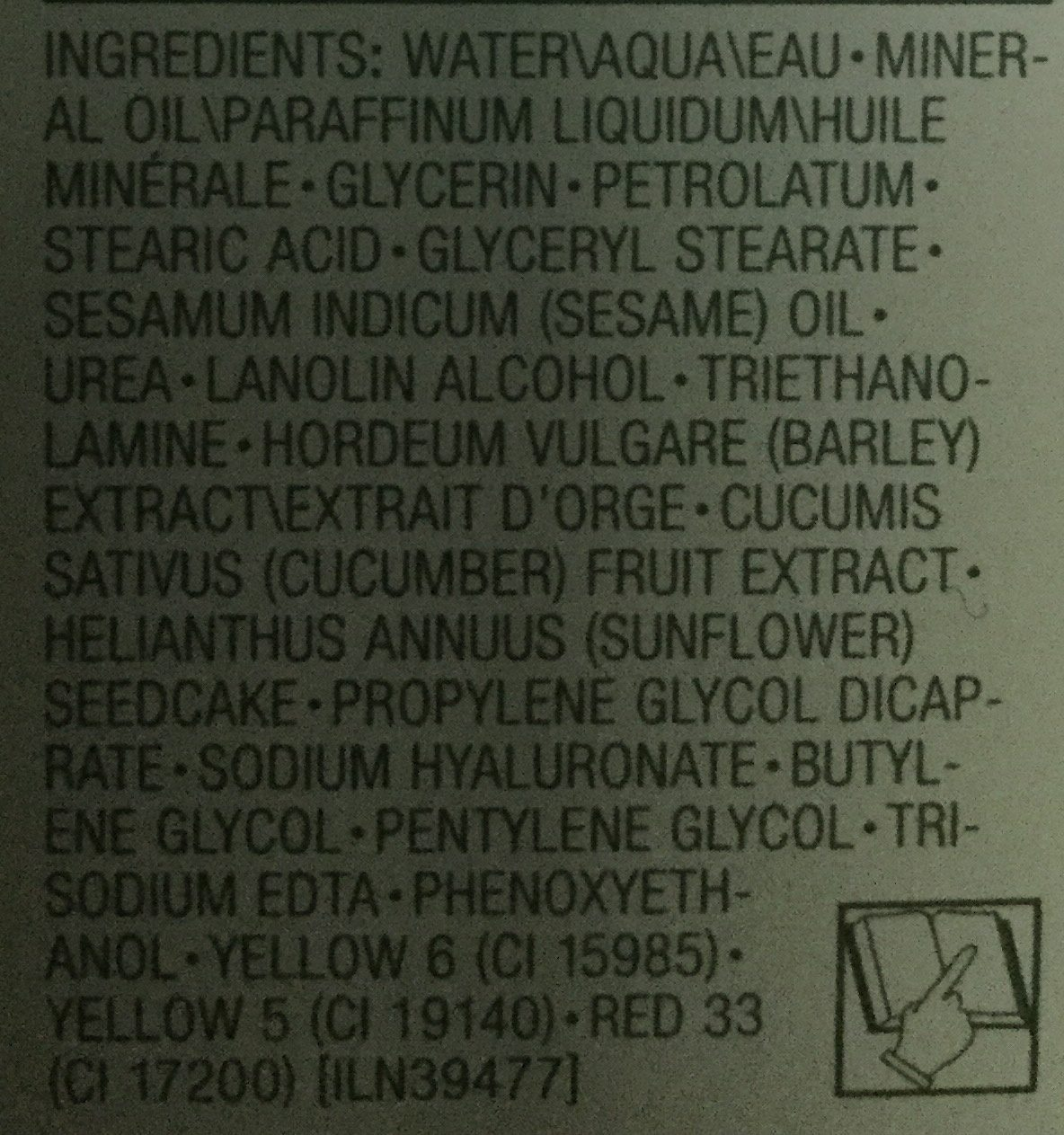 Emulsion hydratante tellement differente - Ingredients
