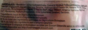 Fleur de shampooing écologique cheveux secs - Ingredients
