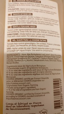 Natur'intim Gel douceur toilette intime - Ingredients - fr