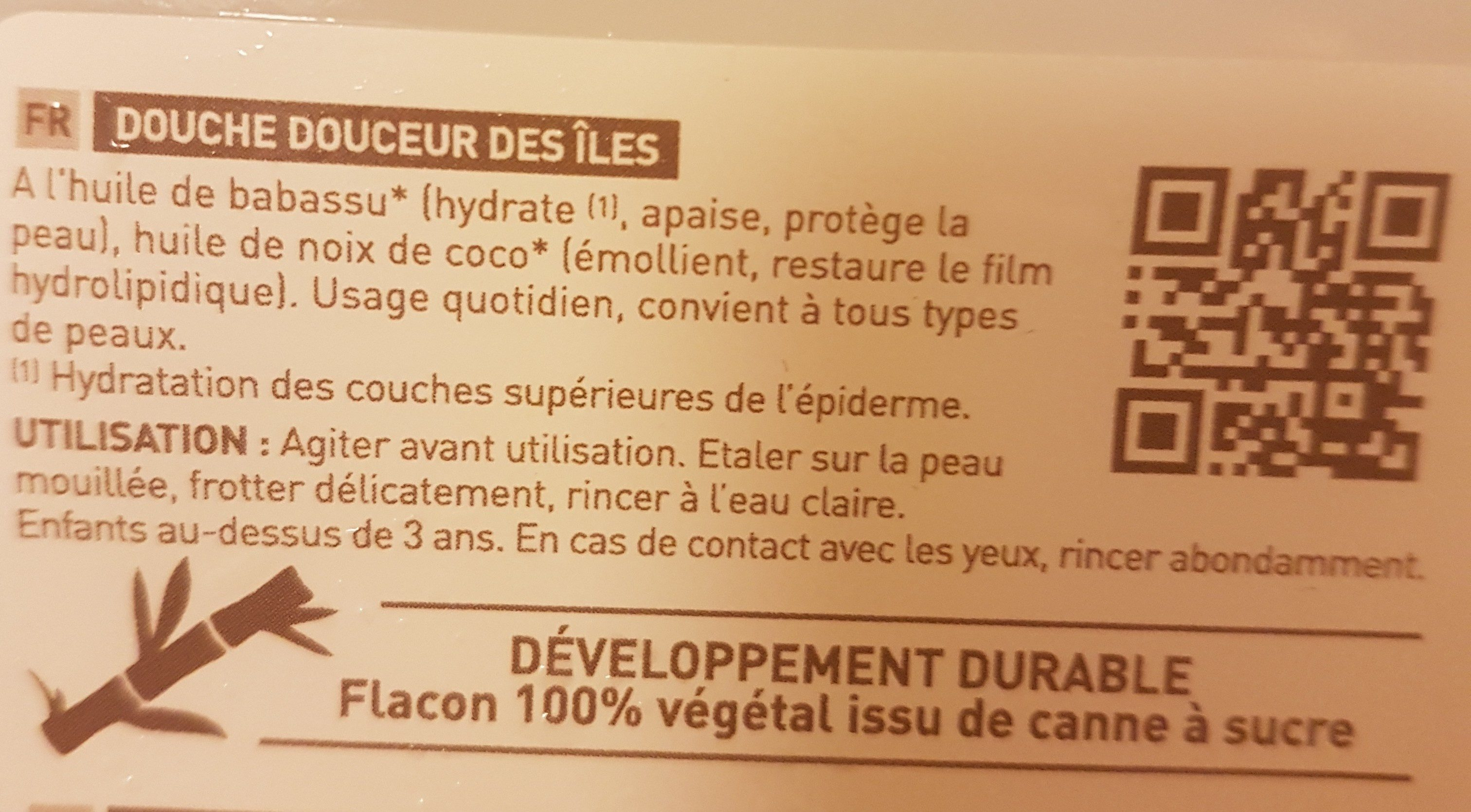 Douche Douceur Des Iles - 1L - Douce Nature - Ingredients - fr