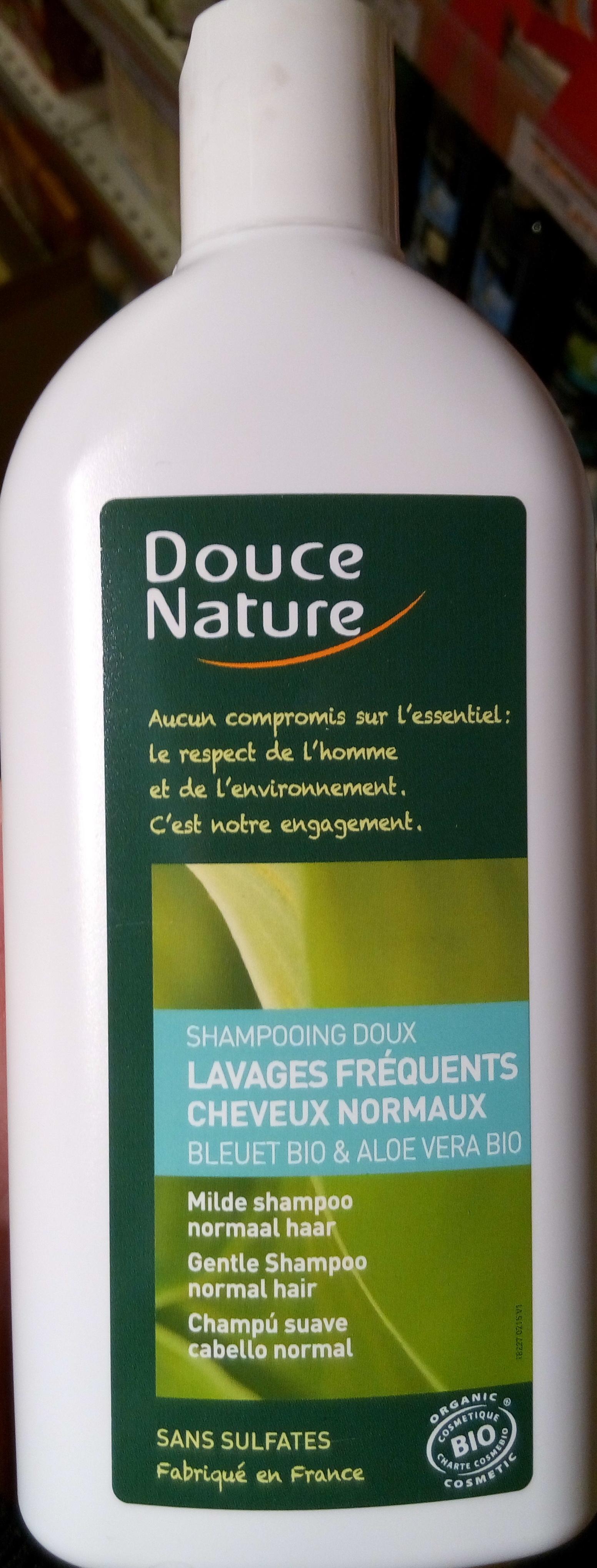 Shampooings doux lavage fréquent cheveux normaux bleuet bio & aloe vera bio - Product - fr