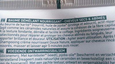 Baume Demelant Nourrissant - Ingredients - fr