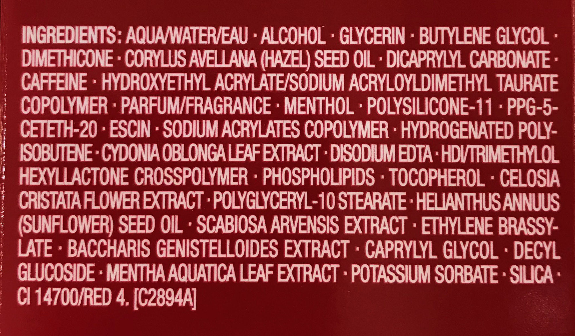 Body Fit - Ingredients
