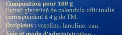 pommade au calendula LHF boiron - Ingrédients