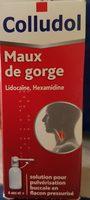 Colludol Maux De Gorge - Solution Pour Pulvérisation Buccale - Ingrédients - fr