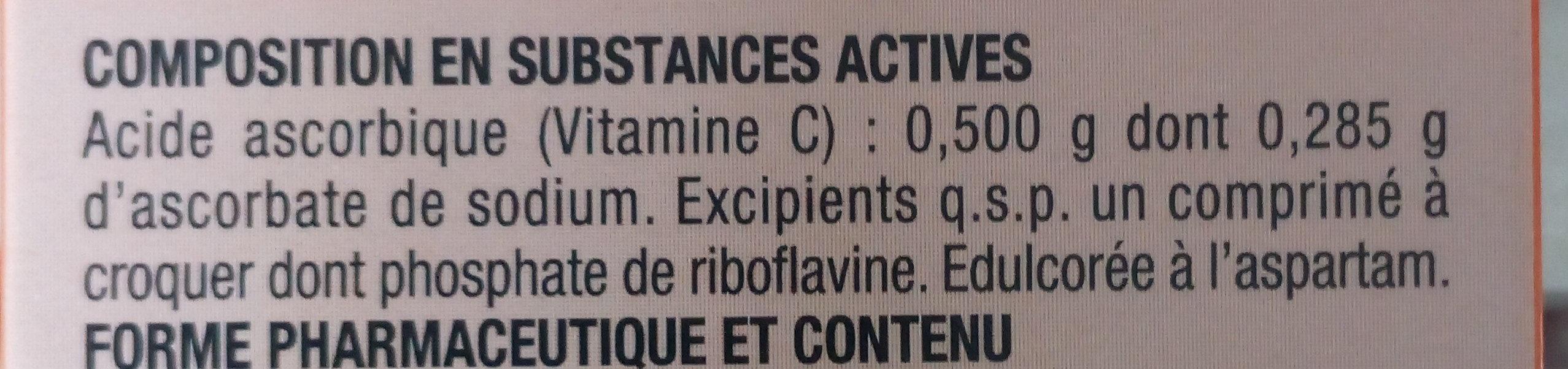 Vitamine C UPSA - Ingrédients
