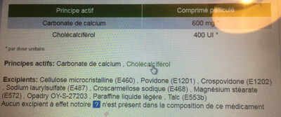 Caltrate vitamine D3 - Ingrédients