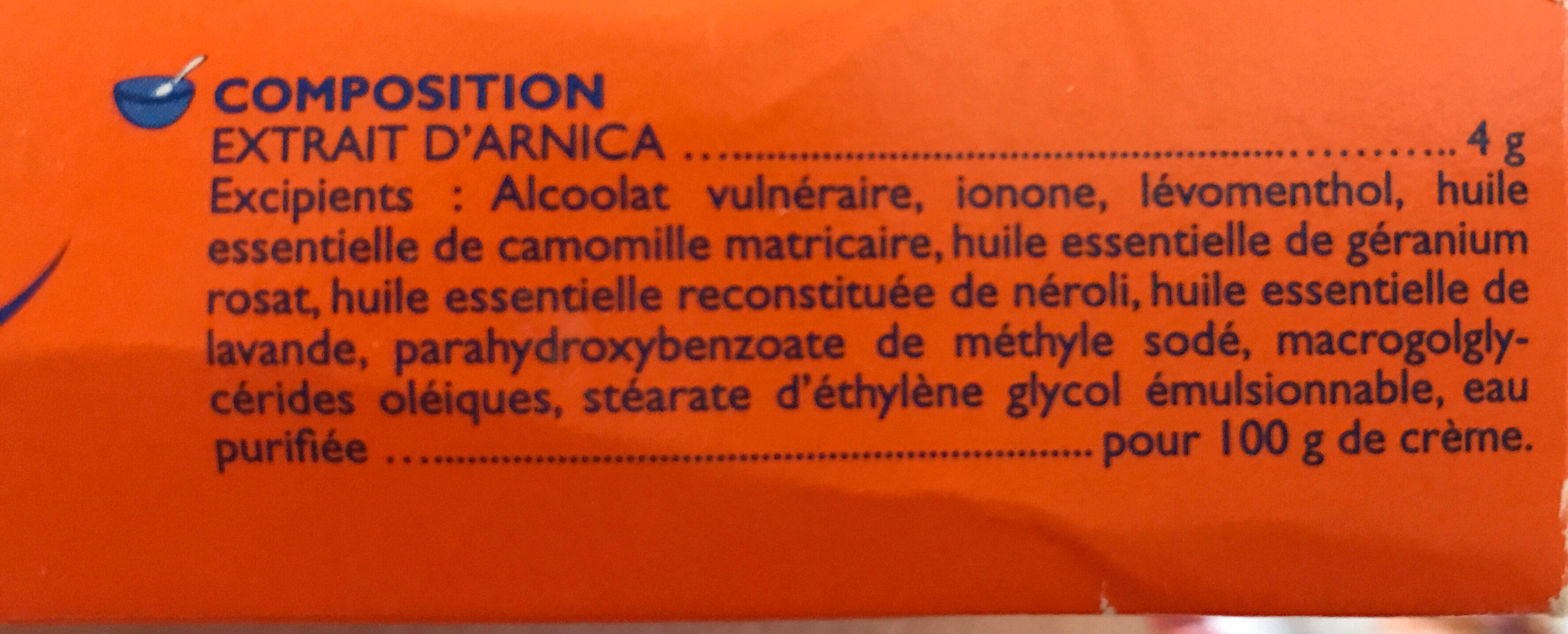Arnican - Ingredients - fr