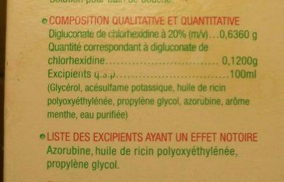 Paroex - Ingrédients - fr