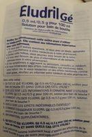 Eludril 0,5ML / 0,5G Pour 100ML Solution Pour Bain De Bouche - Ingrédients - fr