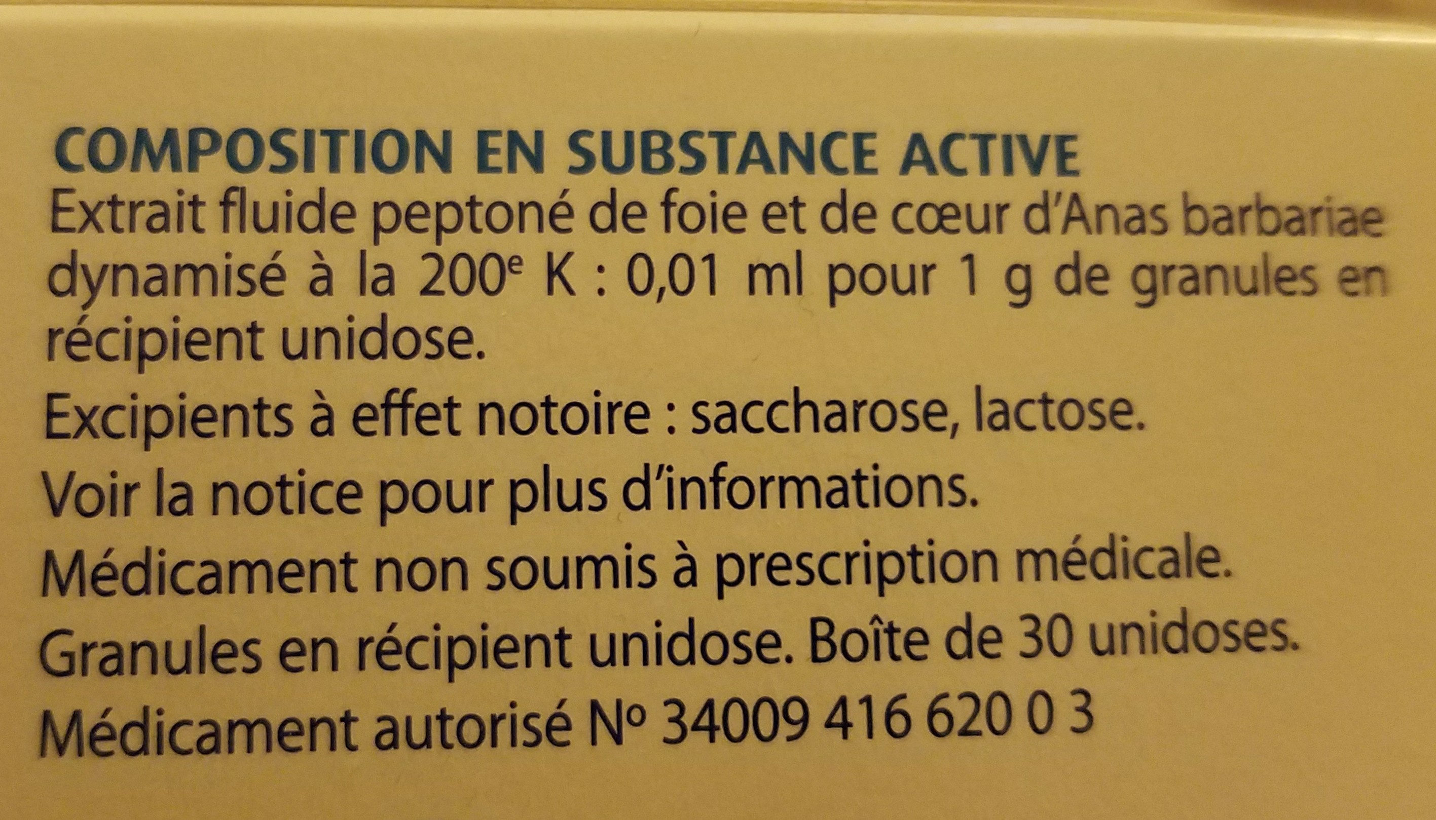 oscillococcinum - Ingredients