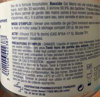 Baccide Gel Hydroalcoolique 300ML - Ingredients - fr