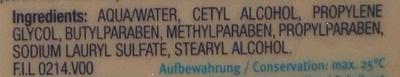 Lotion nettoyante haute tolérance - Ingredients