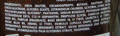 Shampooing reflets à l'huile de camélia - Ingrédients