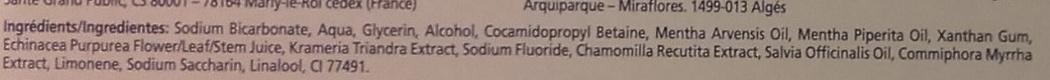Parodontax Dentifrice quotidien au fluor - Ingrédients