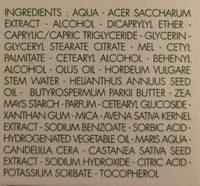 Peaux sèches Soin de jour renourissant aux oligo-éléments - Ingrédients