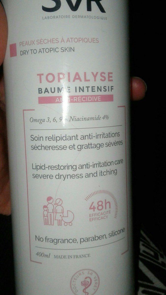 SVR Topialyse Baume Intensif - Ingrédients - fr