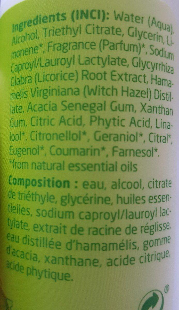 Weleda Deodorant Au Citrus Roll On 24H 50ML - Ingredients