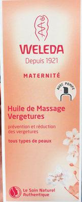 Huile de massage vergetures - Produit