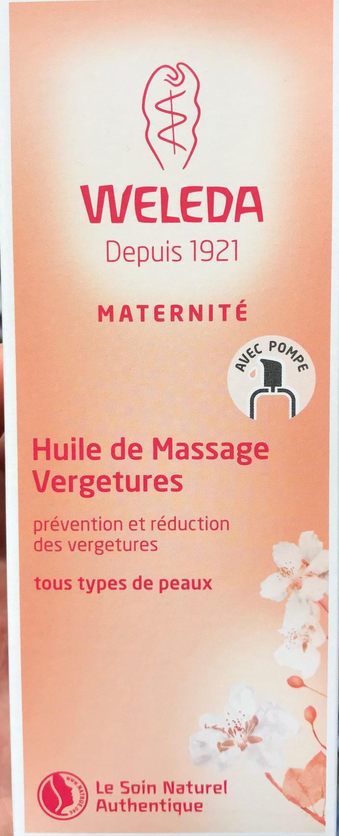 Huile de massage vergetures - Produit - fr