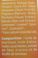 Huile de massage Arnica - Ingredients - en