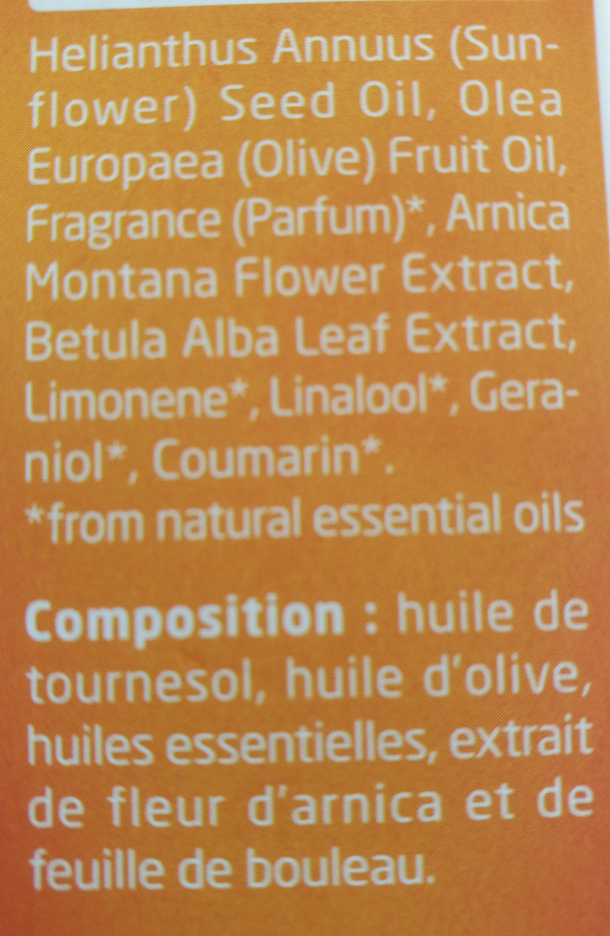 Huile de massage Arnica - Ingredients - en