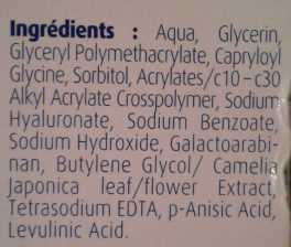 Hydralin Lubrifiant - Ingredients - fr