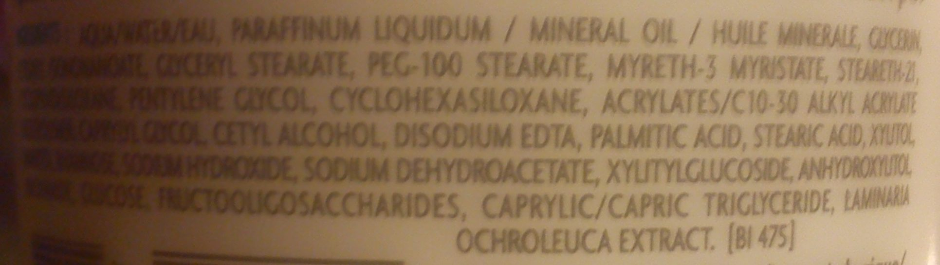 Atoderm Crème - Ingredients - fr