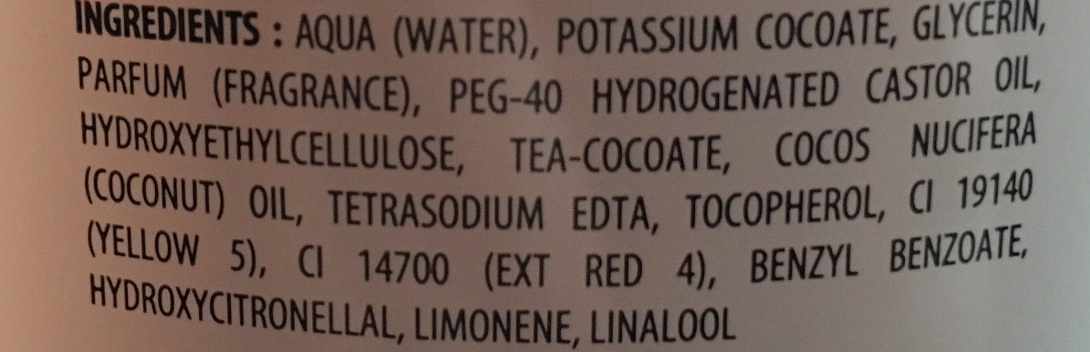 Savon Liquide De Marseille Fleur D'oranger - Ingrédients