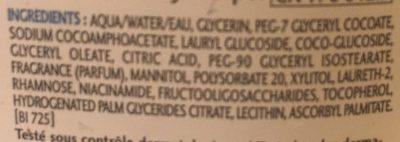 Huile de douche - Ingredients