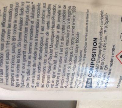 Apaisyl Répulsif Moustiques Lait haute protection - Ingredients - fr
