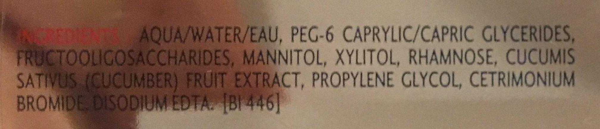 Créaline H2O - Ingredients