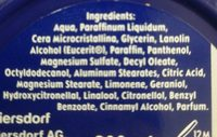 Crème nivea - Ingrédients