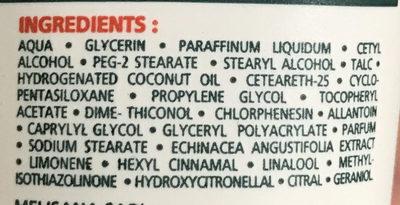 Crème mains réparateur intense formule indienne - Ingrédients