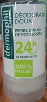 Déodorant doux Pierre d'Alun de Potassium 24H - Produit