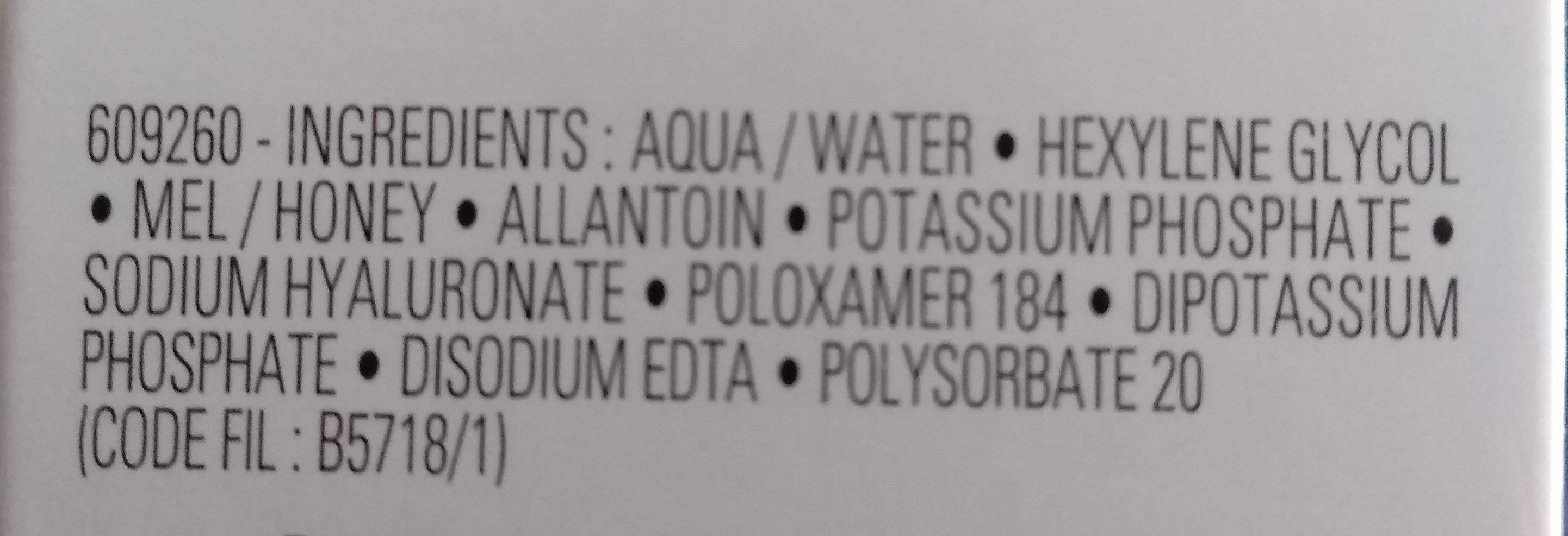Toleriane ultra démaquillant Laroche Posay - Ingredients