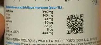 Eaux Thermal peaux sensibles - Ingredients