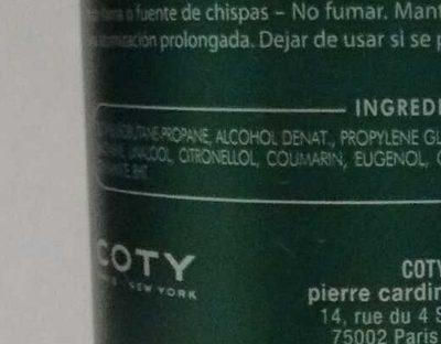 Pour Monsieur - Ingredients - fr
