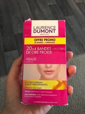 24 bandes de cire froide visage - Product