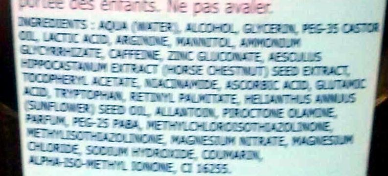 Dermo-soin épilation spécial poils incarnés - Ingrédients - en
