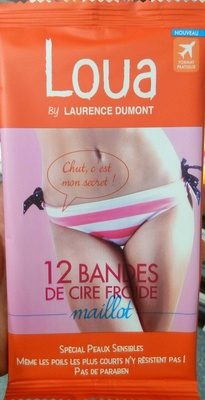 12 bandes de cire froide maillot - Product