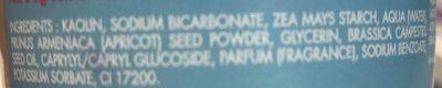 Pâte à gommer - Ingredients