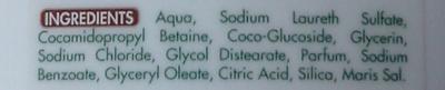Crème douche rêve de coco - Ingredients - fr