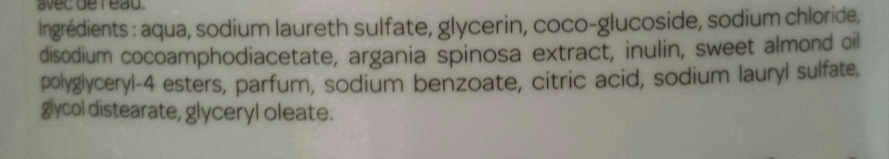 Douche soin hydratation intense - Ingrédients