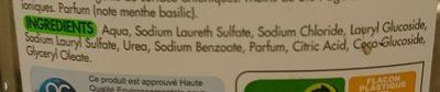 Vaisselle et mains concentré menthe basilic - Ingredients - fr