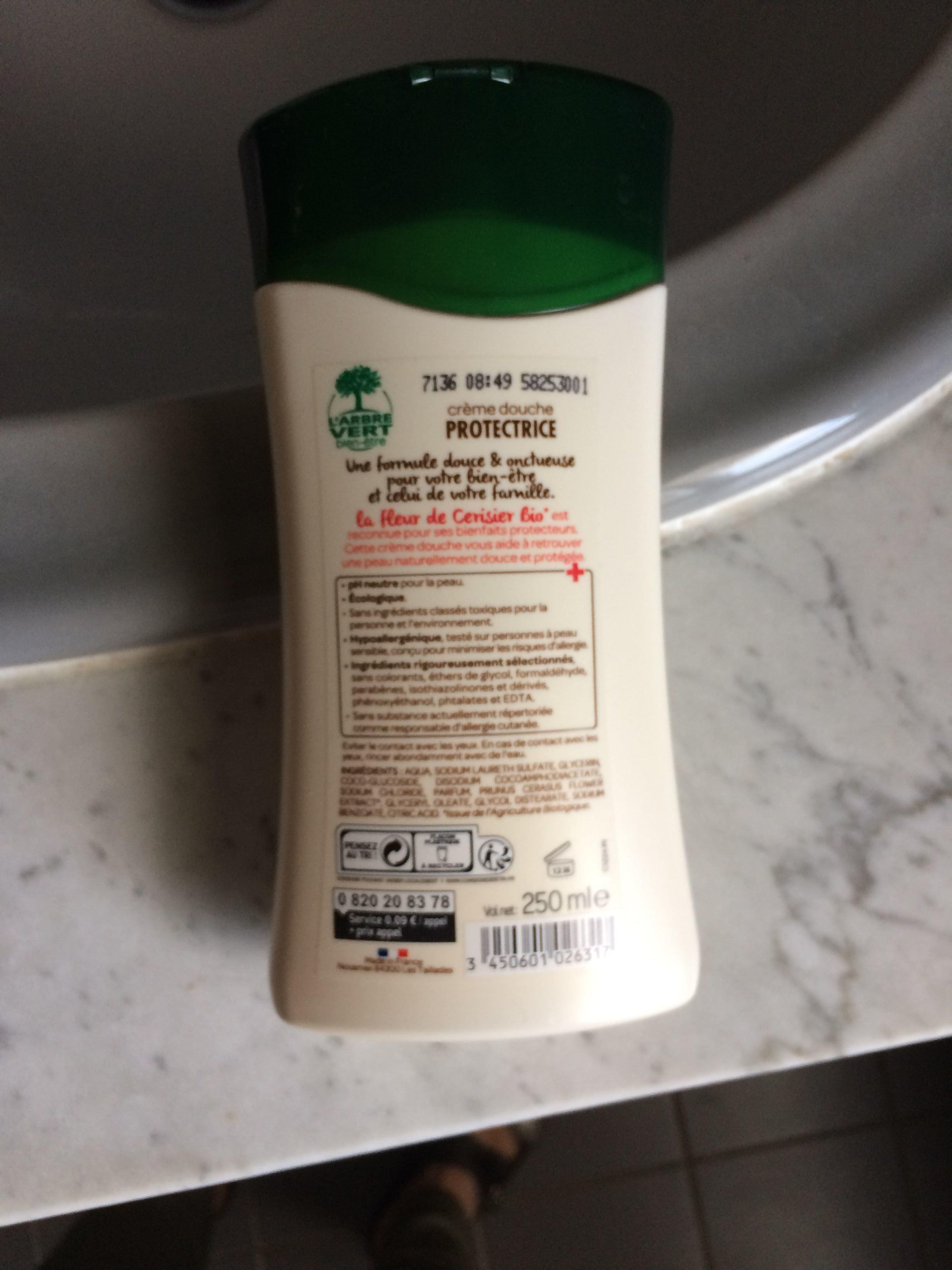 Crème douche protectrice fleurs de cerisiers bio - Product